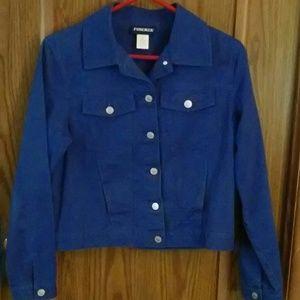 Royal blue jean jacket Froenza size medium